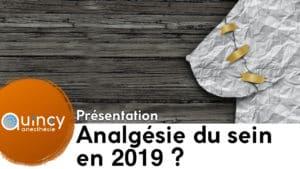 Analgésie sein 2019